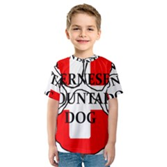Ber Mt Dog Name Paw Switzerland Flag Kids  Sport Mesh Tee