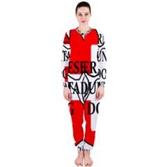 Ber Mt Dog Name Paw Switzerland Flag OnePiece Jumpsuit (Ladies)