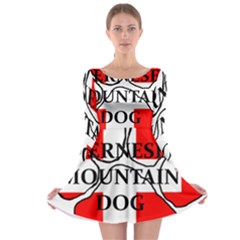 Ber Mt Dog Name Paw Switzerland Flag Long Sleeve Skater Dress