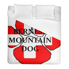 Ber Mt Dog Name Paw Switzerland Flag Duvet Cover (Full/ Double Size)
