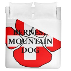Ber Mt Dog Name Paw Switzerland Flag Duvet Cover (Queen Size)