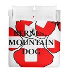 Ber Mt Dog Name Paw Switzerland Flag Duvet Cover Double Side (Full/ Double Size)