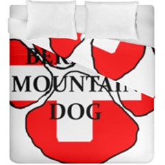 Ber Mt Dog Name Paw Switzerland Flag Duvet Cover Double Side (King Size)