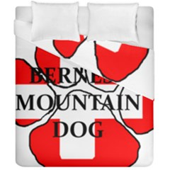 Ber Mt Dog Name Paw Switzerland Flag Duvet Cover Double Side (California King Size)