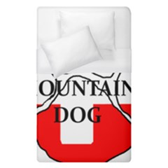 Ber Mt Dog Name Paw Switzerland Flag Duvet Cover (Single Size)