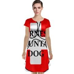 Ber Mt Dog Name Paw Switzerland Flag Cap Sleeve Nightdress