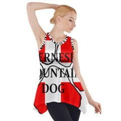 Ber Mt Dog Name Paw Switzerland Flag Side Drop Tank Tunic