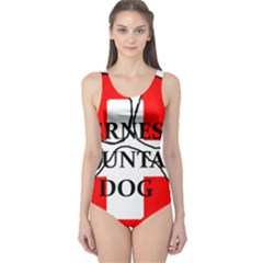 Ber Mt Dog Name Paw Switzerland Flag One Piece Swimsuit