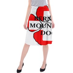 Ber Mt Dog Name Paw Switzerland Flag Midi Beach Skirt