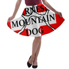 Ber Mt Dog Name Paw Switzerland Flag A-line Skater Skirt