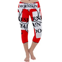 Ber Mt Dog Name Paw Switzerland Flag Capri Yoga Leggings