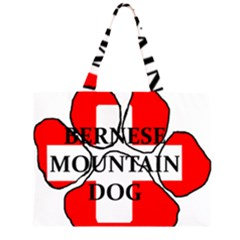 Ber Mt Dog Name Paw Switzerland Flag Large Tote Bag