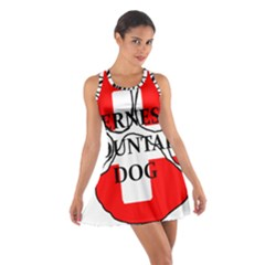 Ber Mt Dog Name Paw Switzerland Flag Cotton Racerback Dress