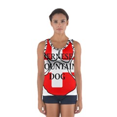 Ber Mt Dog Name Paw Switzerland Flag Women s Sport Tank Top