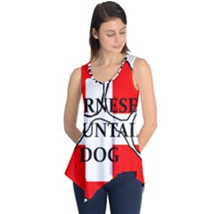 Ber Mt Dog Name Paw Switzerland Flag Sleeveless Tunic