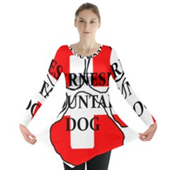 Ber Mt Dog Name Paw Switzerland Flag Long Sleeve Tunic