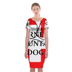Ber Mt Dog Name Paw Switzerland Flag Classic Short Sleeve Midi Dress