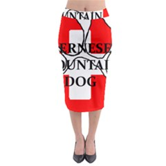 Ber Mt Dog Name Paw Switzerland Flag Midi Pencil Skirt