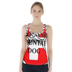 Ber Mt Dog Name Paw Switzerland Flag Racer Back Sports Top