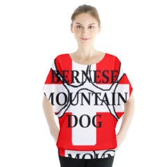 Ber Mt Dog Name Paw Switzerland Flag Blouse