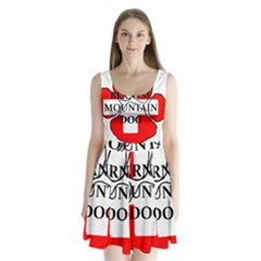 Ber Mt Dog Name Paw Switzerland Flag Split Back Mini Dress