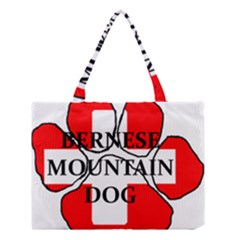 Ber Mt Dog Name Paw Switzerland Flag Medium Tote Bag