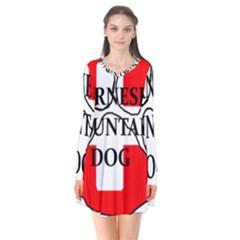 Ber Mt Dog Name Paw Switzerland Flag Flare Dress