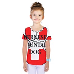 Ber Mt Dog Name Paw Switzerland Flag Kids  One Piece Tee