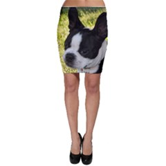 Boston Terrier Puppy Bodycon Skirt