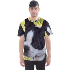 Boston Terrier Puppy Men s Sport Mesh Tee