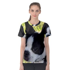 Boston Terrier Puppy Women s Sport Mesh Tee