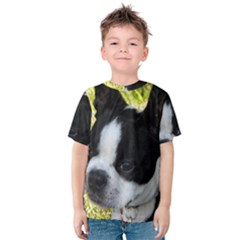 Boston Terrier Puppy Kids  Cotton Tee