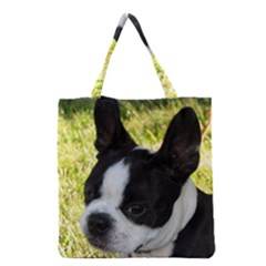 Boston Terrier Puppy Grocery Tote Bag