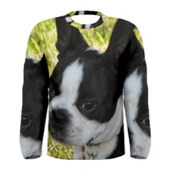 Boston Terrier Puppy Men s Long Sleeve Tee