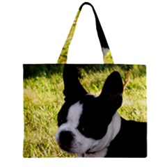 Boston Terrier Puppy Zipper Mini Tote Bag