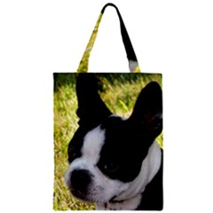 Boston Terrier Puppy Zipper Classic Tote Bag