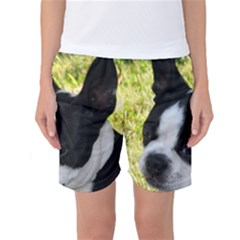 Boston Terrier Puppy Women s Basketball Shorts