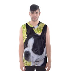 Boston Terrier Puppy Men s Basketball Tank Top