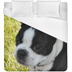 Boston Terrier Puppy Duvet Cover (King Size)