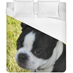 Boston Terrier Puppy Duvet Cover (California King Size)