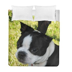 Boston Terrier Puppy Duvet Cover Double Side (Full/ Double Size)