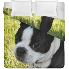 Boston Terrier Puppy Duvet Cover Double Side (King Size)