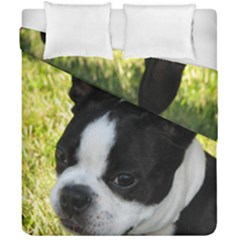 Boston Terrier Puppy Duvet Cover Double Side (California King Size)