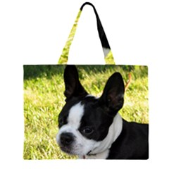 Boston Terrier Puppy Large Tote Bag
