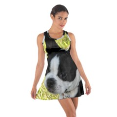 Boston Terrier Puppy Cotton Racerback Dress