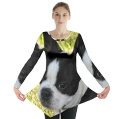 Boston Terrier Puppy Long Sleeve Tunic