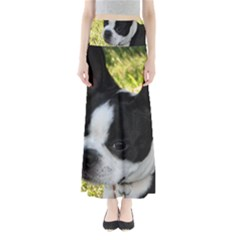 Boston Terrier Puppy Maxi Skirts