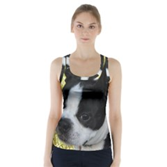 Boston Terrier Puppy Racer Back Sports Top
