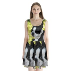 Boston Terrier Puppy Split Back Mini Dress