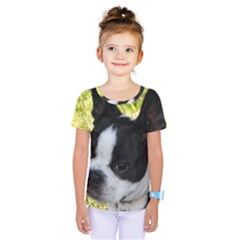 Boston Terrier Puppy Kids  One Piece Tee
